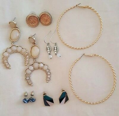 Sportsgirl, Lovisa & Kmart x6 Bulk Pretty Rose Gold Statement Earrings. BNWOT