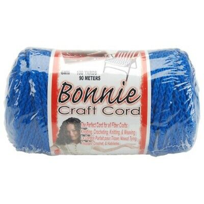 Bonnie Macrame Craft Cord 6mmx100yd-royal Blue