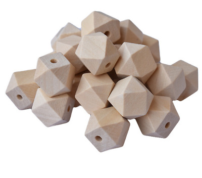 wholesale 50/100pcs Faceted beads Octagonal beads Wood beads Multiple sizes
