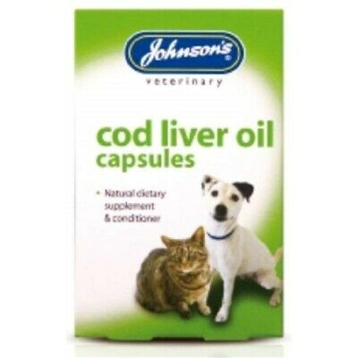 Johnsons Veterinary Products Cod Liver Capsules, 40 Capsules - Oil Cats Dogs
