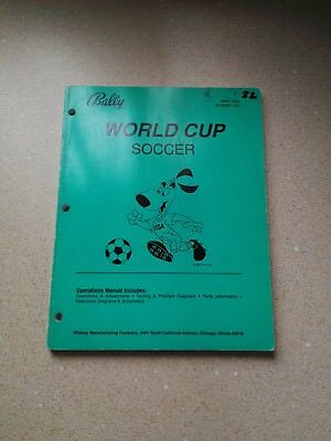 Bally World Cup Soccer Original Operations Manual Includes