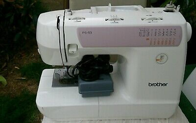 BROTHER PS-53 Sewing Machine with Pedal Cable Hard Cover