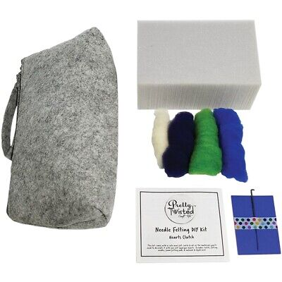 Pretty Twisted Needle Felting Diy Kit-hearts Clutch