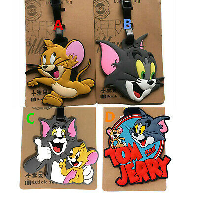 Tom Jerry Travel Luggage Tag School Bag Silicone NEW Cartoon Kids Tom and Jerry