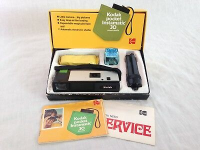 Vintage Kodak Pocket Instamatic 30 Camera Outfit original box Magicube Extender