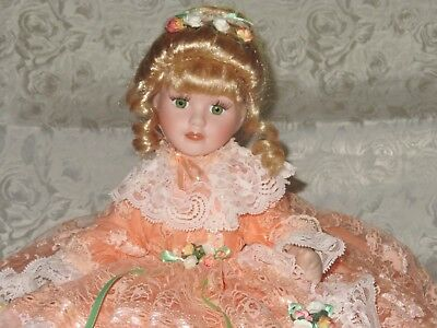 Gorgeous, large, bed or chair porcelain doll