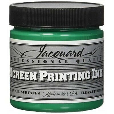 Jacquard Professional Screen Printing Inks 4oz-opaque Green