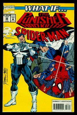 WHAT IF 58 Marvel comic book PUNISHER KILLED SPIDER-MAN 129 COVERSWIPE