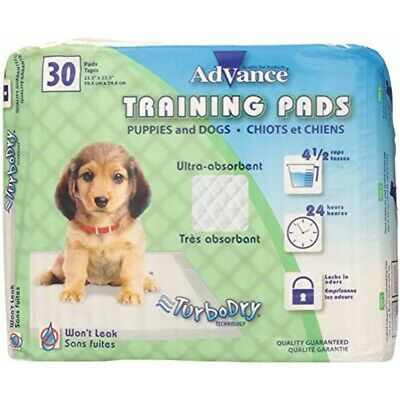 Advance Dog Training Pads With Turbo Dry Technology 30/pkg-