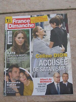 France Dimanche 3769, Céline Dion, Kate, Sublet, Obama, Eva Green, Dave, Omar Sy