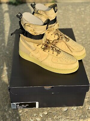 huge selection of e9253 2c94f 2019 NIKE SF AF1 Air Force 1 High Men's Boot Club Gold 864024-700 SZ 12