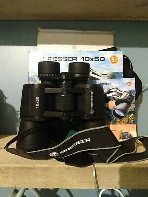 BRESSER BINOCULARS 10X50 BaK 4 Long Eye Relief 114m /1000m