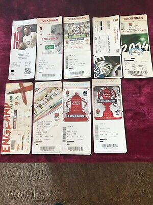 England Rugby Union Tickets x 9 v Wales South Africa Scotland France Argentina