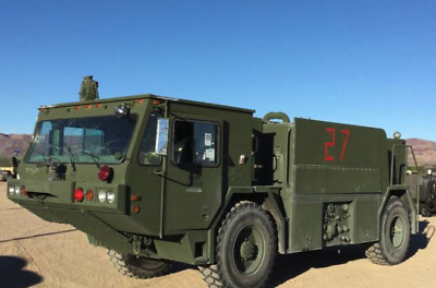 1985 Oshkosh P19A 4x4 AWD Fire Truck PUMP AND RIDE, Bumper and Roof Water Cannon