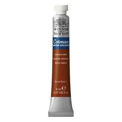 Winsor & Newton Cotman 8ml Water Colour Tube - Indian Red - Water Tubes Paint