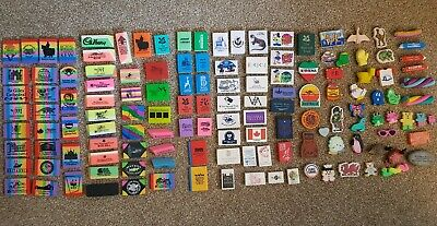 Novelty rubbers/erasers 90's collectables