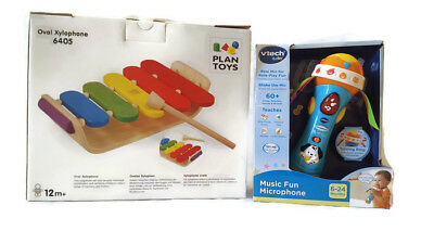 Vtech Microphone and Plan Toys Wooden Xylophone