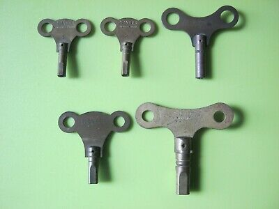 Collection of vintage clock keys - different sizes.