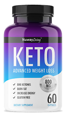 800- MG Keto Diet Advanced Weight Loss - Burns Fat Instead of Carb-60 Capsules