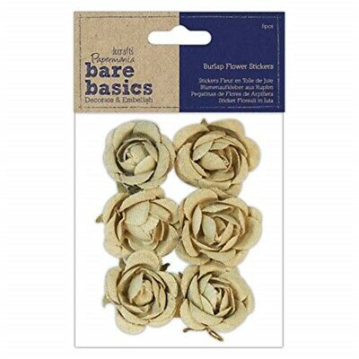 Burlap Flowers (6 Pieces) - Rose