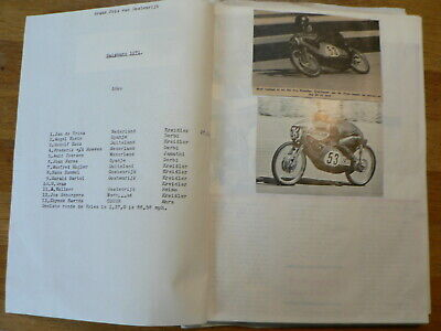 Moto Gp Austria Salzburg Scrapbook With Pictures & Results 1971-78 Cecotto