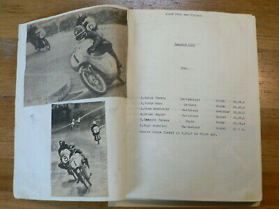 Moto Gp Imatra Finnish Scrapbook With Pictures And Results 1964-1978 Saarinen