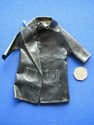 Vintage 1960's  Sindy   Black Vinyl Raincoat