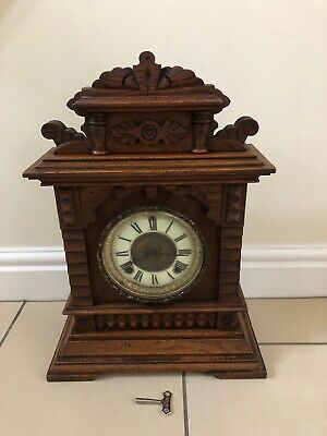 Antique Ansonia 8 Day Syria Strike Mantle Clock. Working With Key