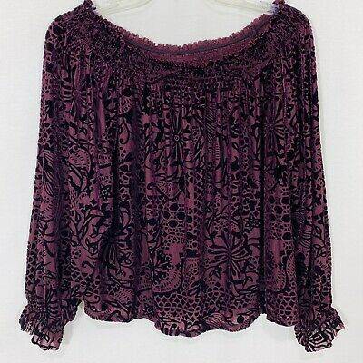 7366b5db684632 FREE PEOPLE PALISADES Lilac Dust Oversized Off-The-Shoulder Top SZ ...