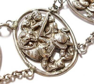 Beautiful Antique Victorian Anglo-Indian Silver Necklace For Repair