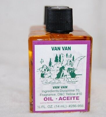 Van Van Magickal Oil (1) 4 DRM Bottle-  Ritual Magic Santeria, Hoodoo, Wicca