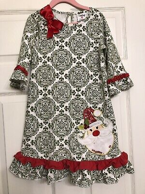 Rare Editions Christmas Dresses.Counting Daisies Rare Editions Santa Christmas Holiday Tunic Dress Girls 6x
