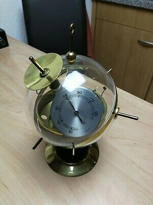 "Wetterstation Thermometer ""Sputnik Satellit"" Messing"
