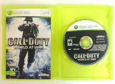 CALL OF DUTY WORLD AT WAR XBOX 360 Live ACTIVISION Combat Action Video Game