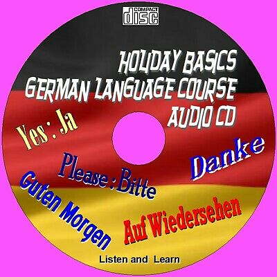 Basic Holiday German Course Simple To Learn Essential Words & Phrases Audio Cd