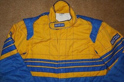 """Sparco Jesolo Kart Racing Suit Size 52 / 40"""" Overalls 1990s F100"""