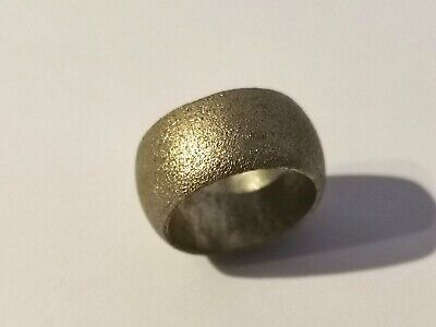 Thick Silver Tone Band Ring - Metal Detecting Find