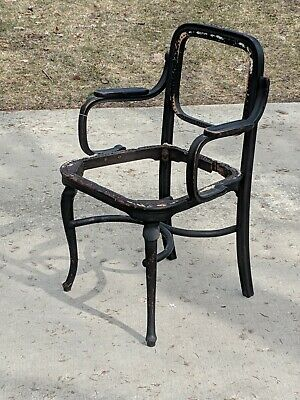 RARE  cane Vienna Austria NY Michael Thonet Oak Bentwood Arm Chair