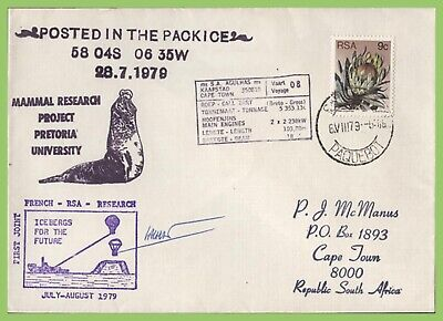 South Africa 1979 MVSA Agulhas paquebot cover, Posted in The Pack Ice