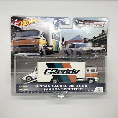 Hot Wheels Laurel 2000 /& Sakura Sprinter TEAM TRANSPORT Car Culture