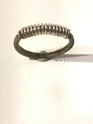Unusual Gold And Silver Tone Spring Ring - Metal Detecting Find