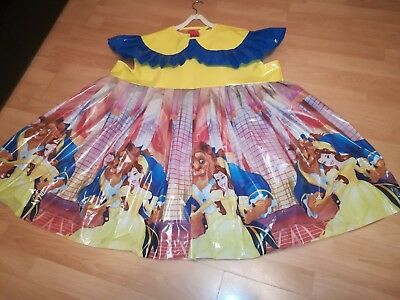 Adult Baby Kleid Gelb Windelhose Sissy PVC LACK Diaper Plastik Disney Dress L-XL