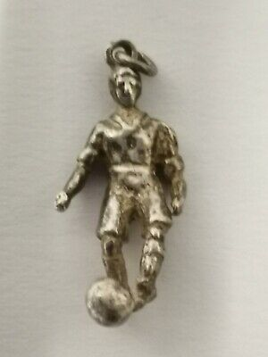 Sterling Silver Football Player Charm/Pendant - Metal Detecting Find