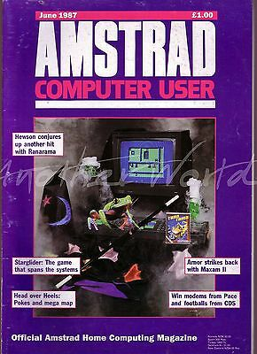 Amstrad Computer User / ACU Magazine - June 1987 - Very Good Condition - Bagged
