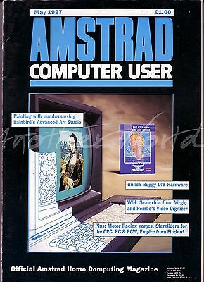 Amstrad Computer User / ACU Magazine - May 1987 - Very Good Condition - Bagged