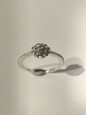 Pretty Silver Tone Cluster Ring - Metal Detecting Find