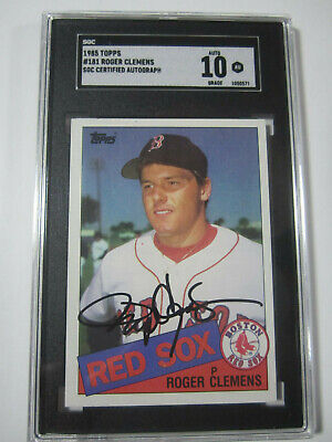 Roger Clemens Red Sox Rookie 1985 Topps 181 Vintage
