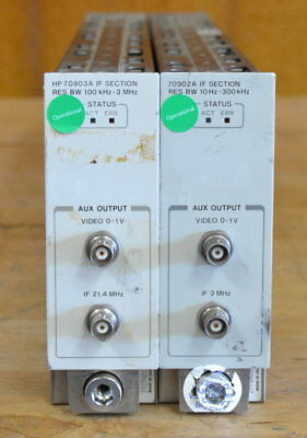 HP Agilent 70902A/70903A IF Section Set 10hz-3MHz for 70K MMS Series Tested GOOD