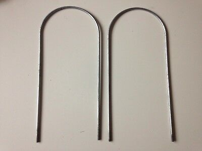 "2 X Runaround Metal Run Anchors / Stakes For 6"" Tube Unused"