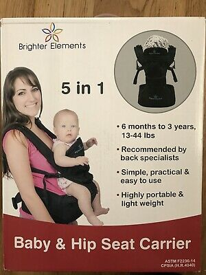 Brighter Elements Ergonomic Baby Carrier With Hip Seat 45 50